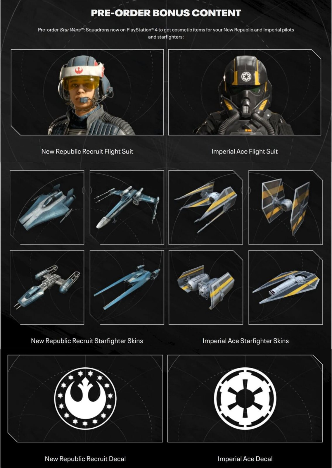 Star Wars Squadrons pre-order